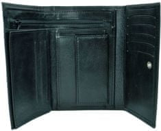 VegaLM Kožená peňaženka s bohatou výbavou v čiernej farbe