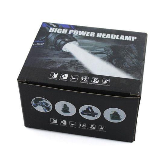 MG T6 Headlamp čelovka s bezkontaktným spínačom LED Zoom, čierna