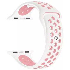 4wrist Silikonový řemínek pro Apple Watch - Bílá/Světle růžová 42/44 mm