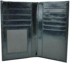 VegaLM Elegantná kožená dokladovka v čiernej farbe