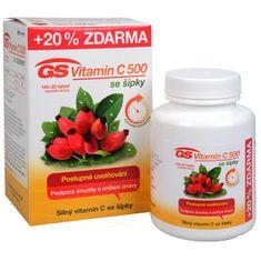 GreenSwan GS Vitamín C 500 + šípky 100 tbl. + 20 tbl. ZD ARMA