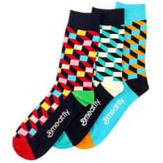 MEATFLY Férfi zokni szett 3D Checkers socks S19 (méret 39-42)