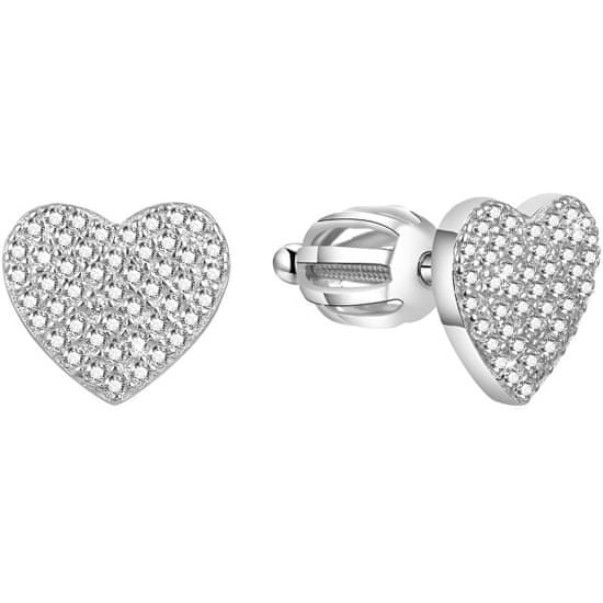Beneto Csillogó szív fülbevalók AGUP1491S