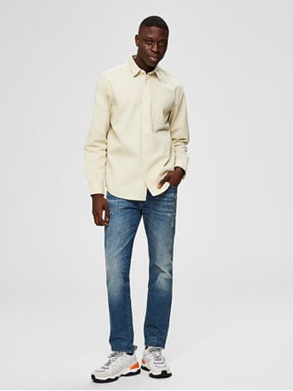 Selected Homme Jeansy męskie SLHSLIM-LEON 6219 M.BLUE CAND ST JEANS W MediumBlueDenim