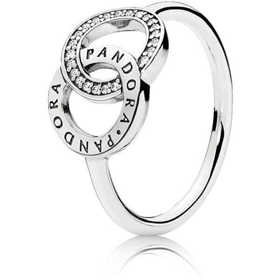 Pandora Srebrny pierścionek 196326 CZ srebro 925/1000