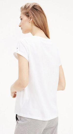 Tommy Hilfiger Dámske tričko Tommy Original Rn Tee Ss Logo UW0UW01618-100 White