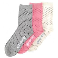 MEATFLY 3 PACK - zokni Rainy Rainy Dots socks S19 Multipack (méret 36-39)