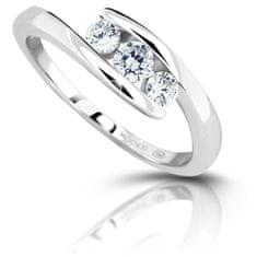 Modesi Stříbrný prsten se zirkony M13075 (Obvod 50 mm) stříbro 925/1000