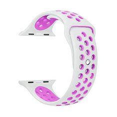 4wrist Silikonový řemínek pro Apple Watch - Bílá/Levandulová 42/44 mm