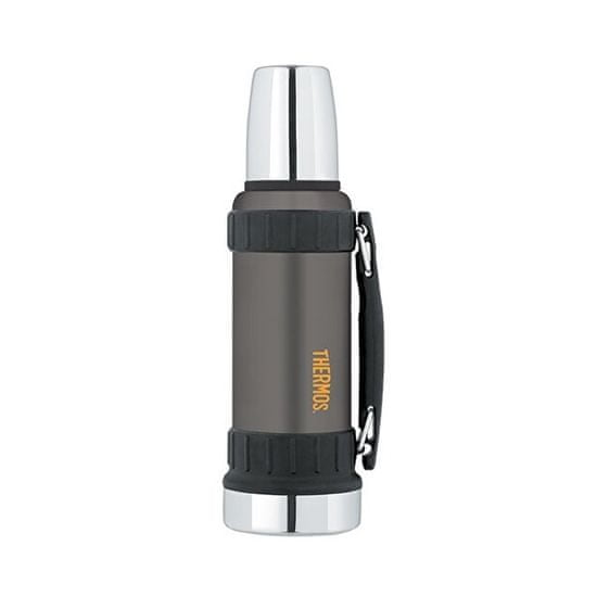Thermos Work Odolná termoska na nápoje s madlem - černá 1,2 l