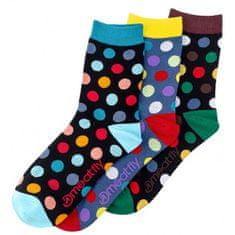 MEATFLY 3 PACK - zokni Dark Regular Dots socks S19 Multipack (méret 36-39)