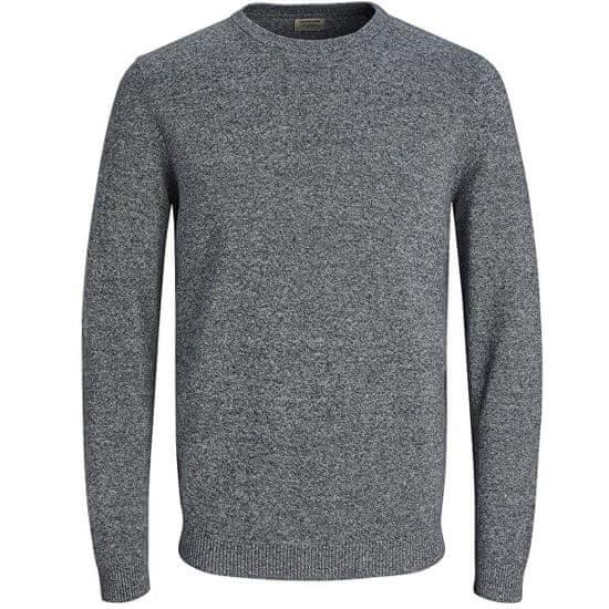 Jack&Jones Moški pulover JJEBASIC 12137190 Navy Blaze r zavit s curkom curka