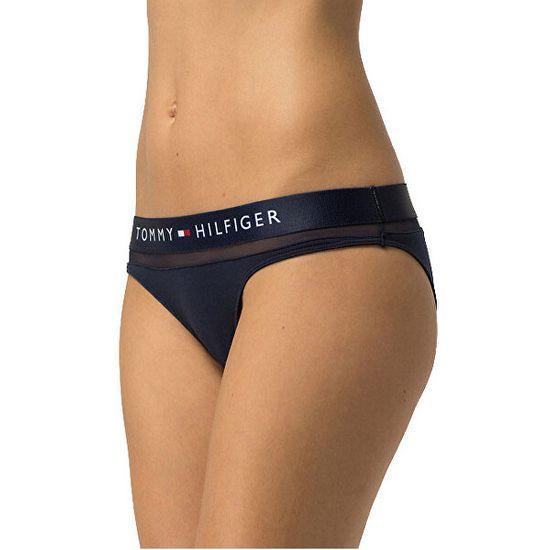Tommy Hilfiger Női alsó Sheer Flex Cotton Bikini UW0UW00022-416 Navy Blazer