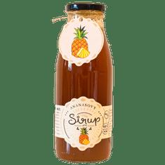 Slaskoukjidlu.cz Ananasový sirup - tekuté ovoce v lahvi, 500 ml, ananas