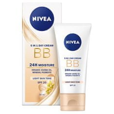 Nivea Upiększający krem nawilżający 5 w 1 BB Cream SPF 20 (5in1 Beautifying Moisturizer) 50 ml (cień Light)