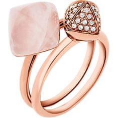 Michael Kors Luxusní sada dvou prstenů MKJ5255791 (Obvod 53 mm)