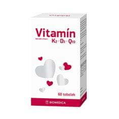 Biomedica Vitamín K2 + D3 + Q10 60 tablet