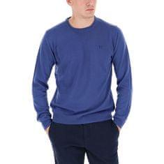 Trussardi Męska sweter Round Szyja 52M00257-U290 Navy Blue (Wielkość L)
