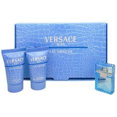 Versace Eau Fraiche Man - woda toaletowa 5 ml + 25 ml żel pod prysznic + balsam po goleniu 25 ml