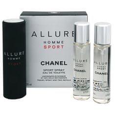 Chanel Allure Homme Sport - EDT 20 ml (steklenička za ponovno polnjenje) + polnilo (2 x 20 ml) 60 ml