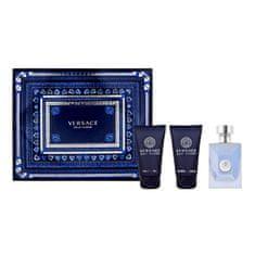 Versace Pour Homme - woda toaletowa 50 ml + żel pod prysznic 50 ml + balsam po goleniu 50 ml