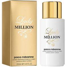Paco Rabanne Lady Million - telové mlieko 200 ml