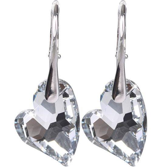 Troli Náušnice Heart D2Y Crystal