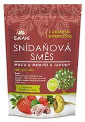 Iswari BIO Snídaňová směs Maca, moruše, jahoda (Varianta 300 g)
