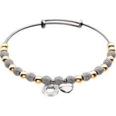 Hot Diamonds Zapestnica Emozioni rumeno zlato in srebro Ula DC099