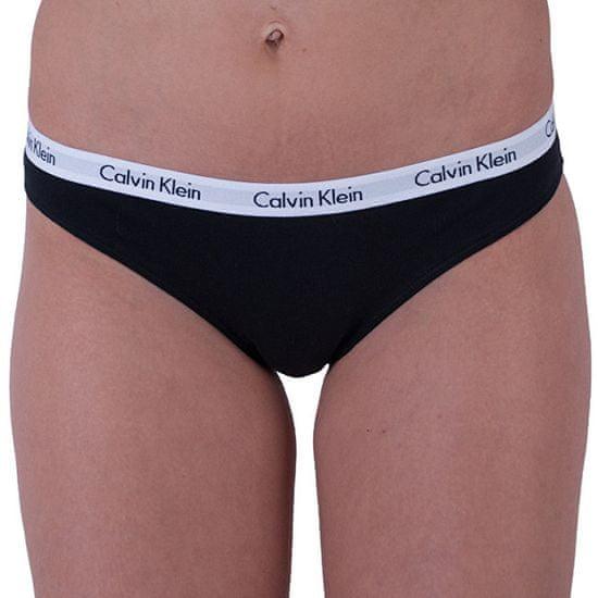 Calvin Klein 3 PACK - dámské kalhotky Bikini QD3588E-001