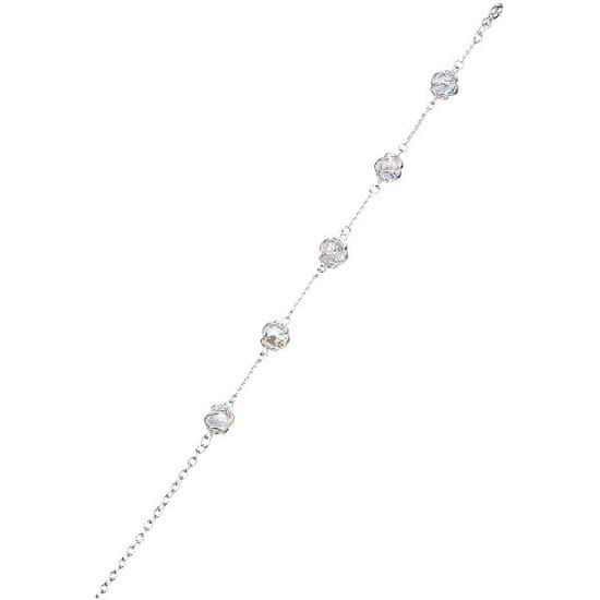Preciosa Zapestnica romantične kroglice Crystal AB 6717 42