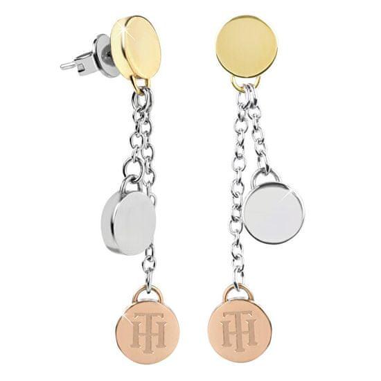 Tommy Hilfiger Luxus fülbevaló tricolor medálokkal TH2700992