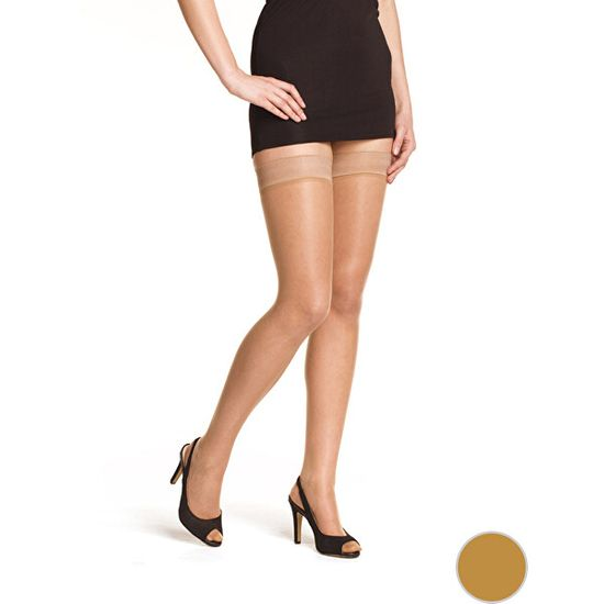 Bellinda Ženske samolepilne nogavice Beauty Hold Ups 15 DEN Amber BE280001 -230