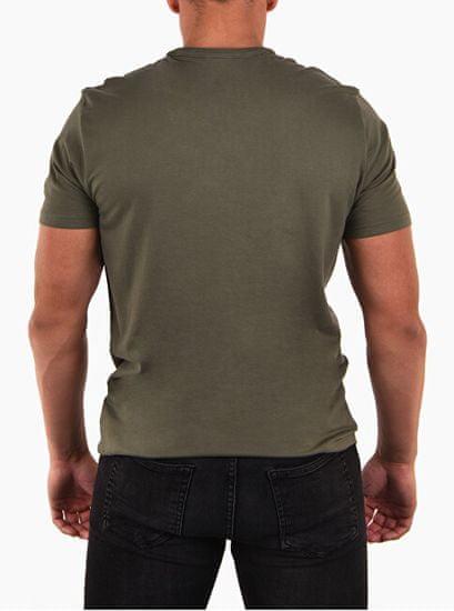 Calvin Klein Męska koszulka trykotowa Comfort Cotton S / S Crew Neck NM1129E -3HU Hunter