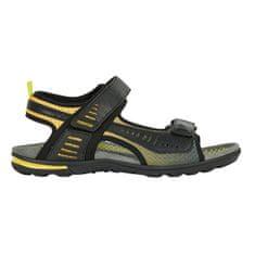 Geox Moški sandali U Tevere Black / Yellow U029CC-0BC14-C0054 (Velikost 41)