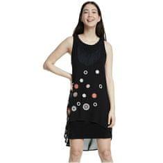 Desigual Ženska obleka Telovnik Barrie Negro 20SWVW56 2000 (Velikost 36)
