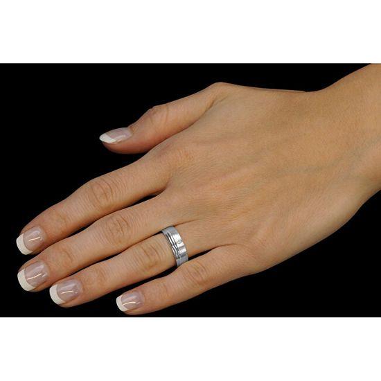 Silvego Poročni srebrni prstan Amora za ženske QRALP130W srebro 925/1000