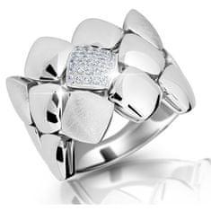 Modesi Designový prsten ze stříbra M13045 (Obvod 58 mm) stříbro 925/1000