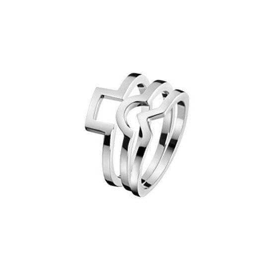 Calvin Klein Jekleni prstan 3 v 1 KJ4VMR0001