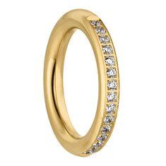 Tamaris Pozlacený prsten Emily se zirkony TJ171 (Obvod 58 mm)