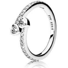 Pandora Stříbrný třpytivý prsten 191023CZ (Obvod 50 mm) stříbro 925/1000