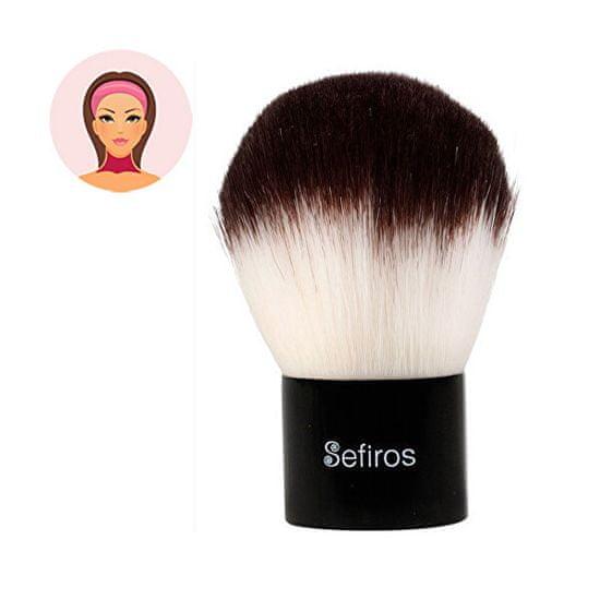 Sefiros Black & White kabuki púderecset testre(Kabuki Brush)