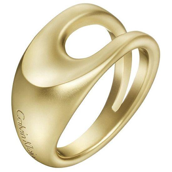 Calvin Klein Luksuzni pozlačen prstan Shape KJ3YJR1101