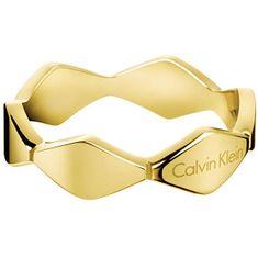 Calvin Klein Zlatý prsten Snake KJ5DJR1001 (Obvod 57 mm)