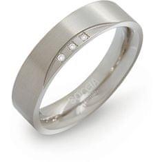 Boccia Titanium Poročni prstan iz titana z diamanti 0138-02 (Obseg 56 mm)