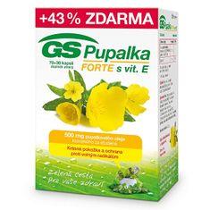 GreenSwan GS Pupalka Forte s vitamínom E 70 kapsúl + 30 kapsúl ZDARMA