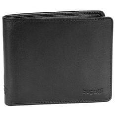 Bugatti Moška usnjena denarnica 49108101 Black