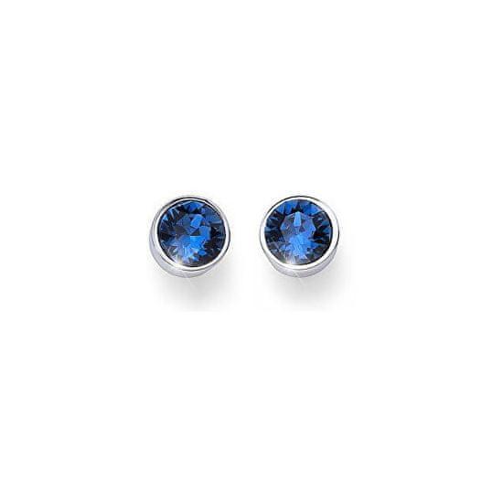 Oliver Weber Kolczyki z niebieskimi kamieniami kryształkami Ocean Uno 22623 207