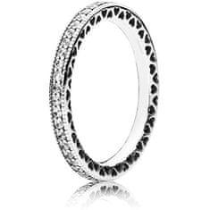 Pandora Zamilovaný prsten s krystaly 190963CZ (Obvod 58 mm) stříbro 925/1000