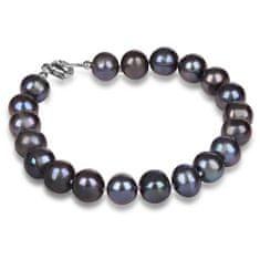 JwL Luxury Pearls Bransoletka oryginalne niebieskie perły JL0360